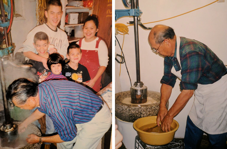 The Family Making Mochi