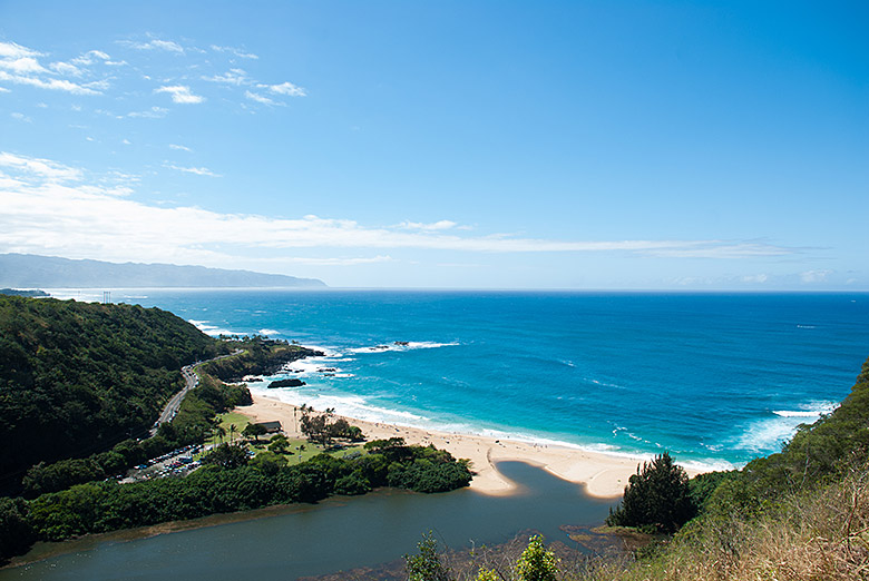 Overlooking Waimea Bay